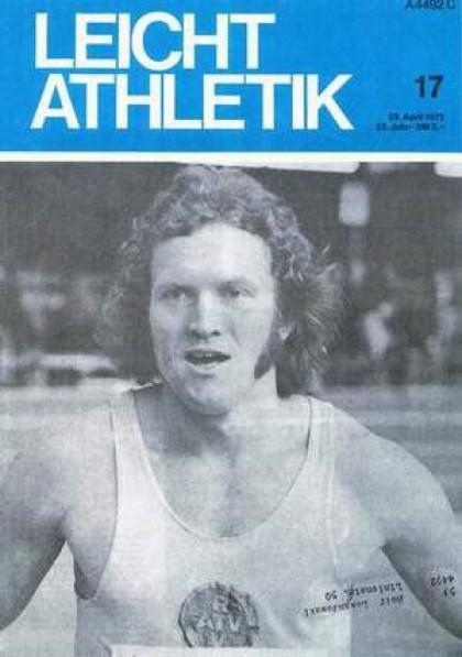 Titelfoto in der Zeitschrift Leichtathletik 17