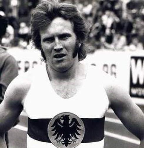 Rolf im Nationaltrikot beim Länderkampf  Deutschland -  Holland in Münster im Juli 1971.