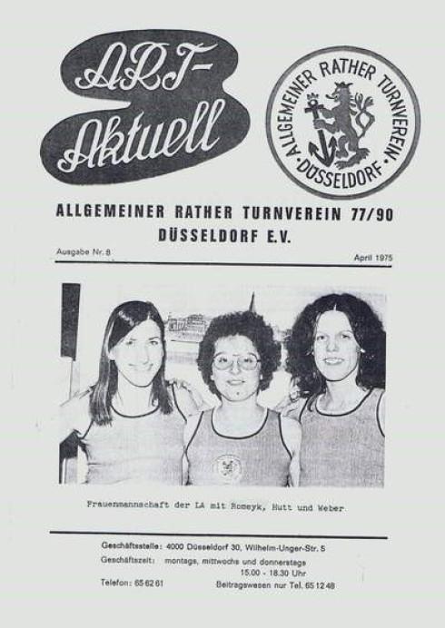 Christa Hutt (Mitte) zusammen mit ihren Mannschaftskameradinnen