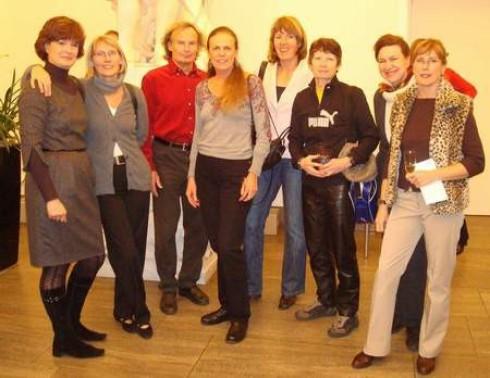 Ein Teil der Mannschaft von li. nach re. : Monika Engel, Monika Turzer, Mannschaftsführer Dieter Stecher, Monika Müller, Regina Schaddach, Bärbel Halfmann, Christine Lang- Dreyer, Cornelia Fiege.