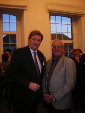 v.li.: Oberbürgermeister Dirk Elbers, Gerhard Bruckhaus