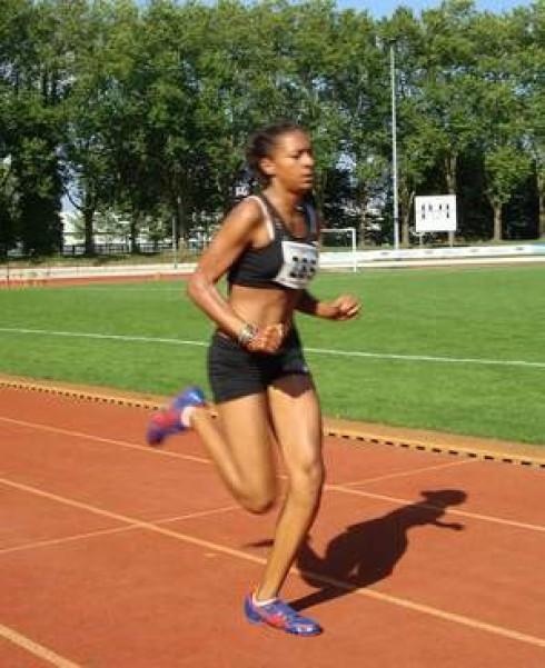 Jessie Maduka auf den letzten Metern zum Kreisrekord