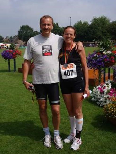Bernd und Monika nach den Wettkämpfen am Sonntagvormittag