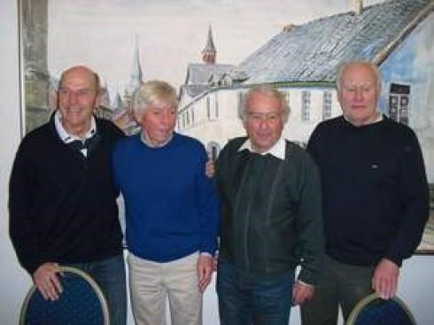 4x70=280 Jahre ----> v.li.: Adolf Schnug, Manfred Arians, Karl-Hermann Lammert, Rudi May