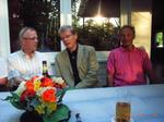 Im Gespräch über frühere Zeiten: Max Kremer, Dieter Stockmann,  Dieter Stecher