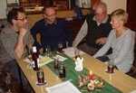 Robert Lilje, Ralf Breuer und Kati Hagemann im Gespräch mit  Gerd Bruckhaus, dem 1. Vorsitzenden  des Fördervereins.