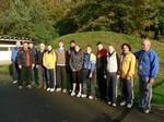 Die versammelte Mannschaft vor dem Training.
