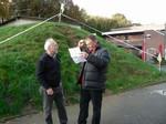Während Jochen und Eckhard sich abstimmen .........