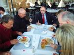 Gemeinsames Mittagessen mit Detlef Parr.