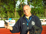 Bereit zum Startschuß: Werner Angermund