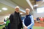 Unser ältestes Vereinsmitglied Herbert E. Müller ( rechts ) , der mehrmals an den Start ging und in der AK 90 alles gewann .